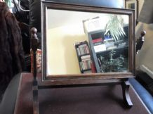 ANTIQUE EDWARDIAN DRESSING / TOILET SWING MIRROR IN FRAME GENUINE SIMPLE ELEGANT